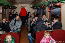 Glada resenärer i Tomteexpressen (2018)