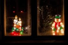 Juldekorationer i Antens stationshus